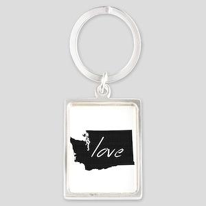 Love Washington Portrait Keychain