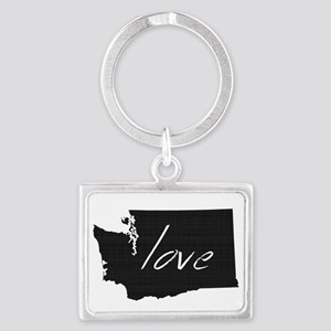 Love Washington Landscape Keychain