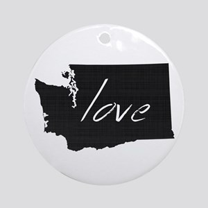 Love Washington Ornament (Round)