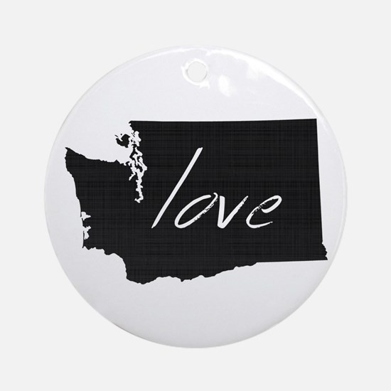 Love Washington Ornament (Round)