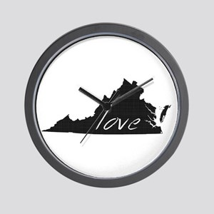 Love Virginia Wall Clock