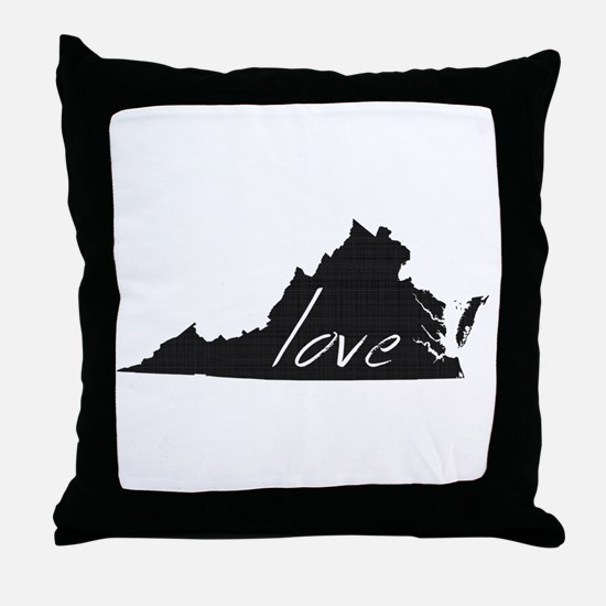 Love Virginia Throw Pillow