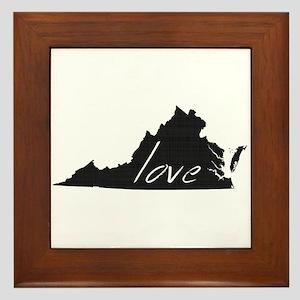 Love Virginia Framed Tile