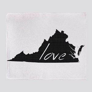 Love Virginia Throw Blanket