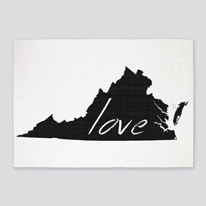 Love Virginia 5'x7'Area Rug