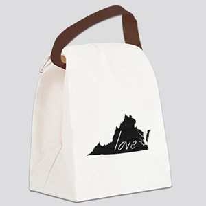 Love Virginia Canvas Lunch Bag
