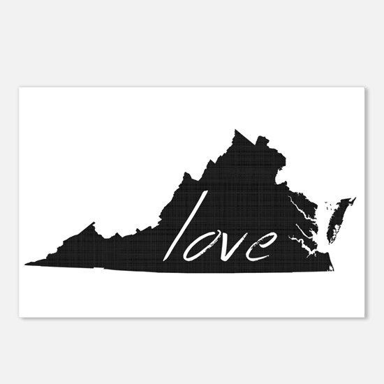 Love Virginia Postcards (Package of 8)
