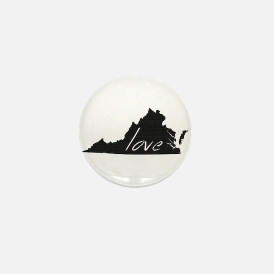 Love Virginia Mini Button