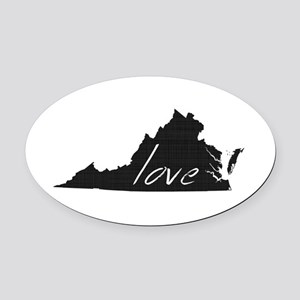 Love Virginia Oval Car Magnet
