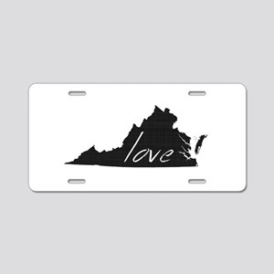 Love Virginia Aluminum License Plate