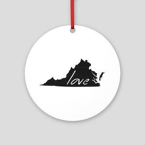 Love Virginia Ornament (Round)