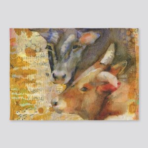 Forever Friends Cows 5'x7'Area Rug