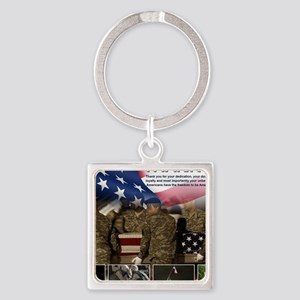 Memorial Day Square Keychain