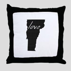 Love Vermont Throw Pillow