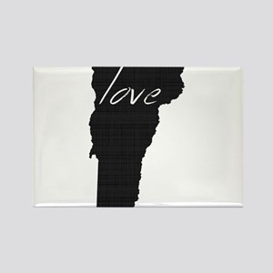 Love Vermont Rectangle Magnet