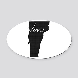 Love Vermont Oval Car Magnet