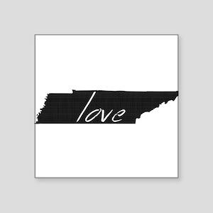 """Love Tennessee Square Sticker 3"""" x 3"""""""