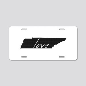 Love Tennessee Aluminum License Plate