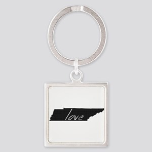 Love Tennessee Square Keychain