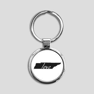 Love Tennessee Round Keychain