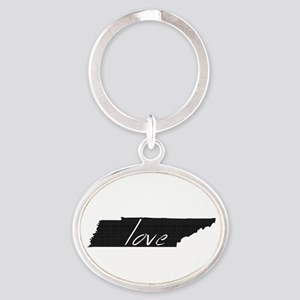 Love Tennessee Oval Keychain