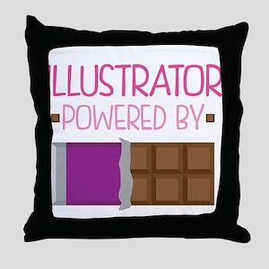Illustrator Throw Pillow