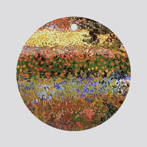 Flowering Garden by Vincent van Gogh Ornament (Rou