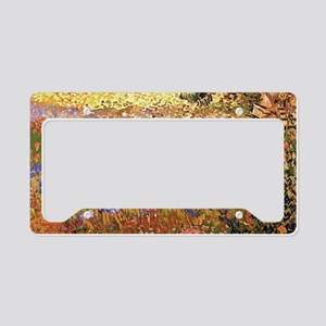 Flowering Garden by Vincent van Gogh License Plate