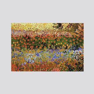 Flowering Garden by Vincent van Gogh Magnets