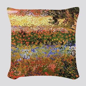 Flowering Garden by Vincent van Gogh Woven Throw P