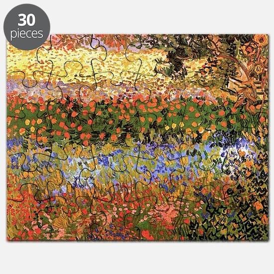 Flowering Garden by Vincent van Gogh Puzzle