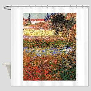 Flowering Garden by Vincent van Gogh Shower Curtai