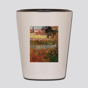 Flowering Garden by Vincent van Gogh Shot Glass