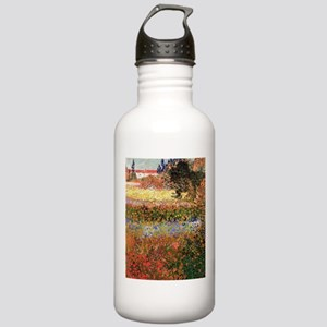 Flowering Garden by Vincent van Gogh Water Bottle