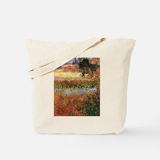 Flowering Garden by Vincent van Gogh Tote Bag