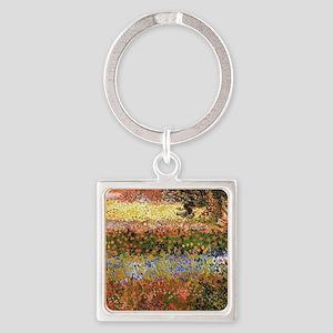 Flowering Garden by Vincent van Gogh Keychains