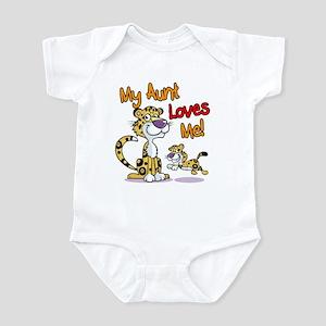 My Aunt Loves Me Leopard Infant Bodysuit