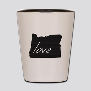 Love Oregon Shot Glass