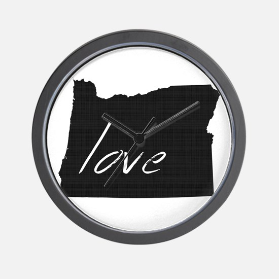 Love Oregon Wall Clock