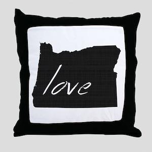 Love Oregon Throw Pillow