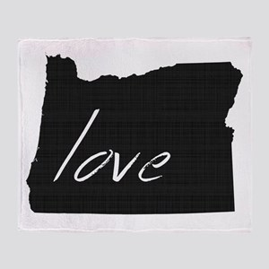 Love Oregon Throw Blanket