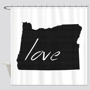 Love Oregon Shower Curtain