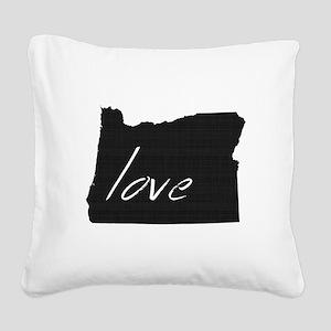 Love Oregon Square Canvas Pillow