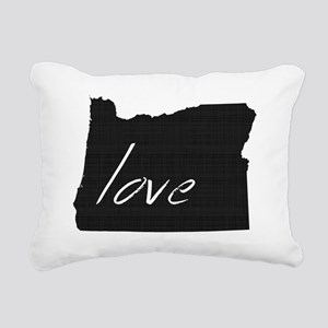 Love Oregon Rectangular Canvas Pillow