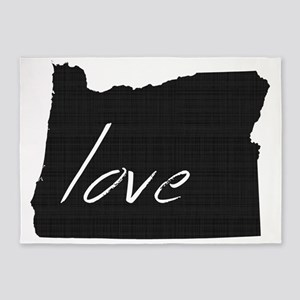 Love Oregon 5'x7'Area Rug