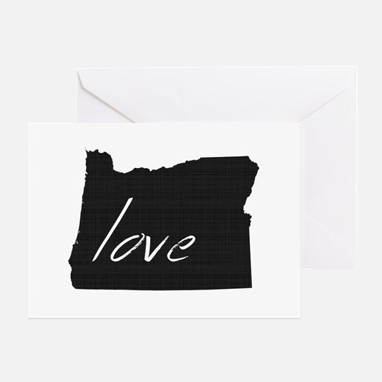 Love Oregon Greeting Card