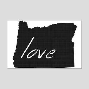 Love Oregon Mini Poster Print
