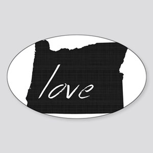 Love Oregon Sticker (Oval)