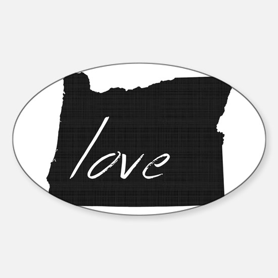 Love Oregon Sticker (Oval)