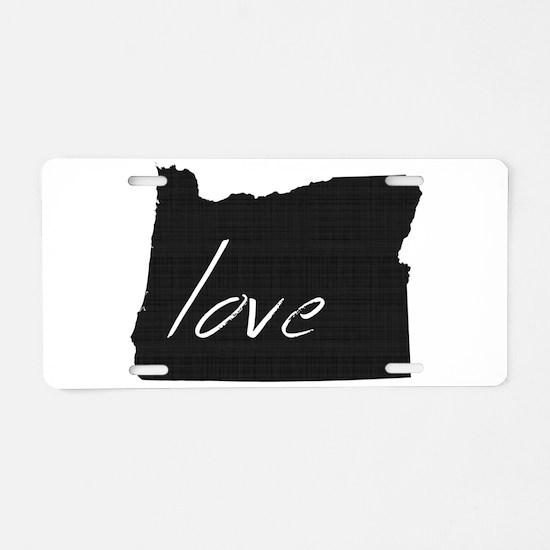 Love Oregon Aluminum License Plate